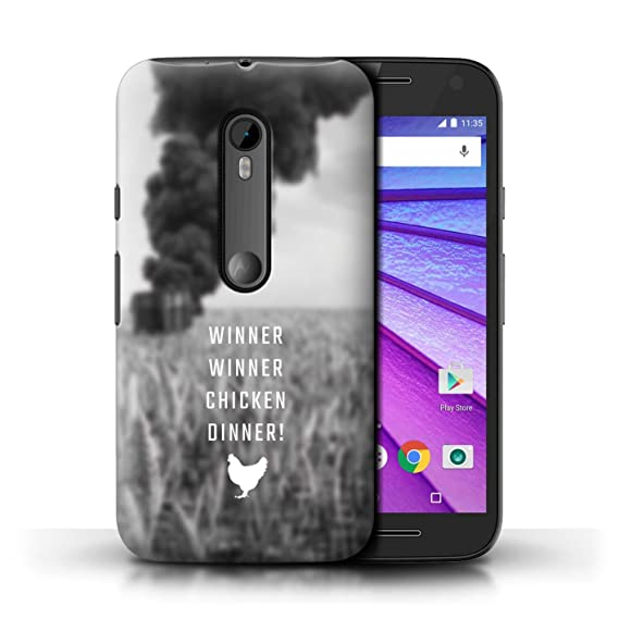 STUFF4 Phone Case/Cover for Motorola Moto G Turbo Edition/Chicken Dinner Design/