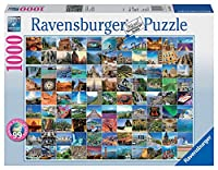 Ravensburger 19371 - 99 Beautiful Places on Earth, 1000 Teile Puzzle