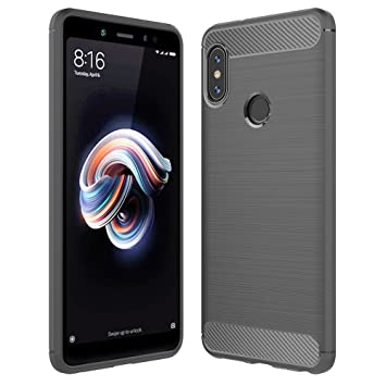 Anjoo Compatible para Funda Xiaomi Redmi Note 5 Gris, Carcasa Redmi Note 5 Suave TPU Silicona Carcasa Parachoques Protectora para Xiaomi Redmi Note 5, ...
