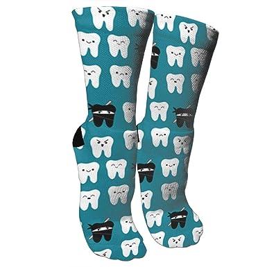 Amazon.com: Calcetines de tela de la manera del diente Ninja ...