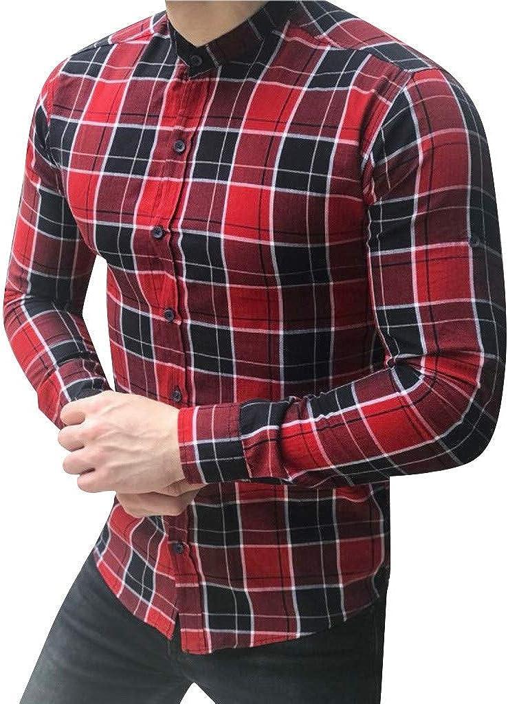 YEBIRAL Camisetas Hombre Manga Larga Slim Fit Celosía ...