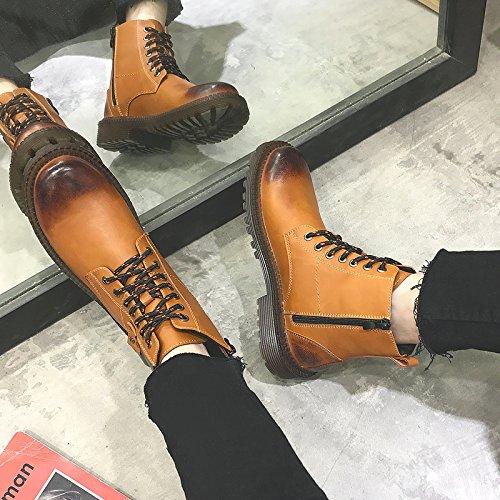 HL-PYL - Martin Martin Martin Mode Stiefel hohe Stiefel Stiefel für Werkzeuge Retro 42 gelb 164816