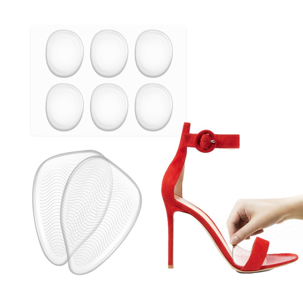 High Heels Inserts for Women, with 6 Ball of Foot Cushions, One Size Fits Shoe Inserts for Women Shoes