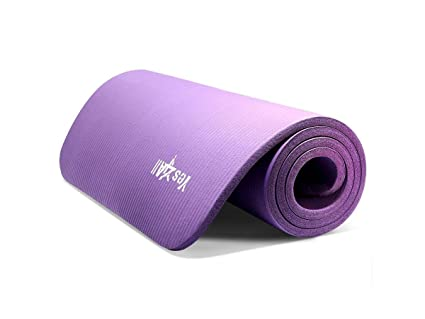 Amazon.com : Yes4All Premium NBR Printed Yoga Mat 1/2-inch ...