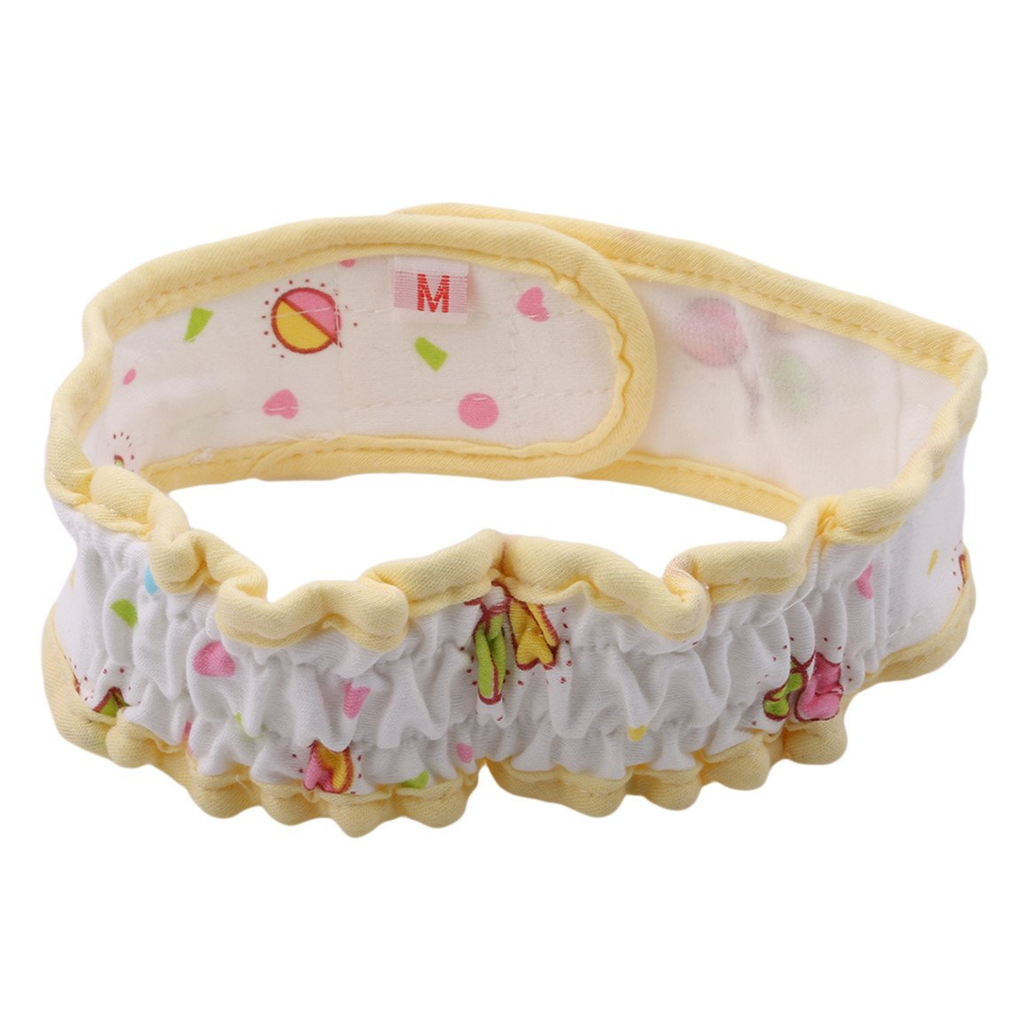 Rurah Baby Diaper Belt Fixed Belt Buckle Elastic Diapers Simple Diaper Buckle Diaper Kids Fixed Belt,yellow,L
