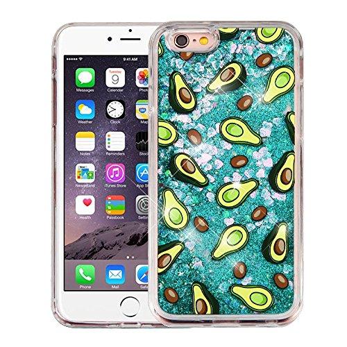 iPhone 6 Plus/6s Plus Case, Mybat Avocado Glitter PC/TPU Rubber Case Cover For Apple iPhone 6 Plus/6s Plus, Green