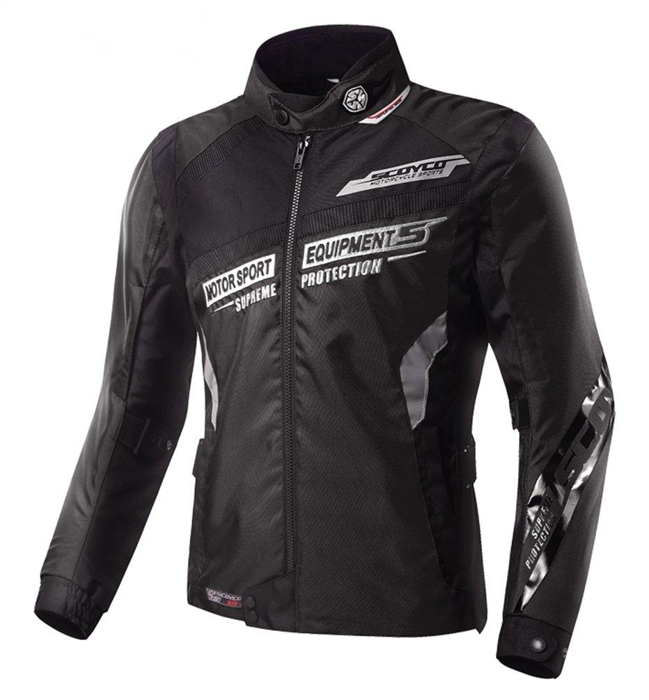 バイクジャケット ライダースジャケット レーシングジャケット 通気 耐摩 ライディングジャケット プロテクター装備 春 夏 秋 B01GA6729E XL