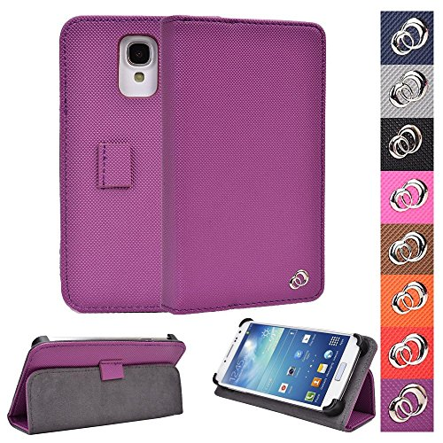 (KroO 4.7-5-Inch Android Phones/MP3 Players Universal Case | Grape Purple Phone Holder Cover W/Foldable)