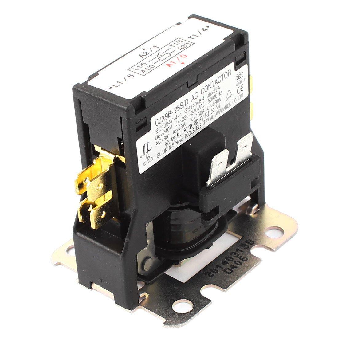 1PCS CJX9B-25S AC CONTACTOR Air Conditioner Coil Magnetic Contactor 220-380VAC