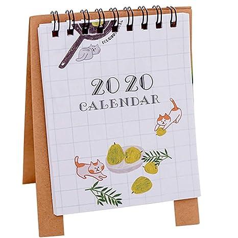Ruikey Calendario De Mesa 2020 Calendario Sobremesa Para La ...