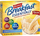 Cheap Carnation Breakfast Essentials Powder Drink Mix, Classic French Vanilla, 10 Count Box of 1.26 oz Packets, 6 Pack