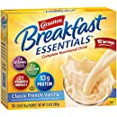 Carnation Breakfast Essentials Powder Drink Mix, Classic French Vanilla, 1.26 oz, 10 Count Envelopes (Pack of 6)
