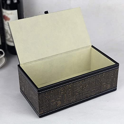 Xiaoyu Caja De Pañuelos, Porta Toallas De Papel De Cuero De PU, Toalla De Papel Rectangular Y Caja De Almacenamiento De Toallas De Cara (Color : Style A ...