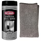 #6: Weiman Stainless Steel Wipes 30 Count with Stainless Steel Micro Fiber Cloth