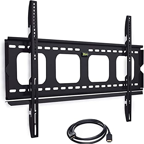 Amazon Com Mount It Low Profile Tv Mount Flush Large Tv Wall Mount Slim Fixed Tv Mount For 42 70 In Screen Tvs Vesa Compatibility Up To 850x450 220 Lbs Capacity