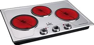 JATA V533 - Cocina eléctrica vitrocerámica 3 placas de 3300 w