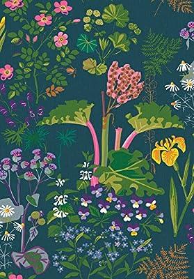 Wall Vision WV1791 Rabarber Floral Wallpaper, Charcoal