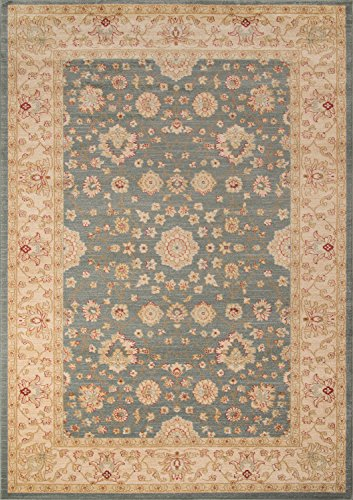 (Momeni Rugs ZIEGLZE-01BLU2030 Ziegler Collection, Traditional Area Rug, 2' x 3', Blue)