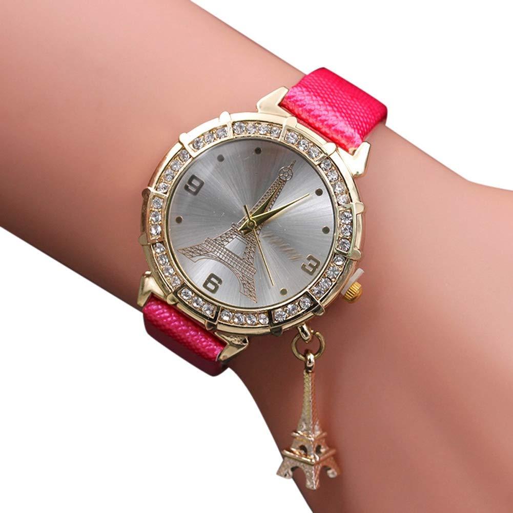 Amazon.com: Womens Watches On Sale,Clearance Ladies Classic Quartz Analog Watch,Wugeshangmao Female The Eiffel Tower Rhinestone Pendant Wirst Watch ...