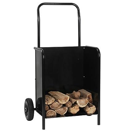 Jago - Carro para transportar leña (hasta 120 kg) con ruedas - de hierro