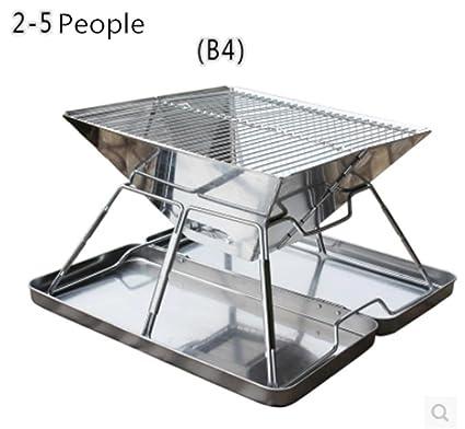 HomJo Barbacoa grill Parrilla de barbacoa de barbacoa de carbón de leña de acero inoxidable pedestal