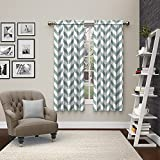 """Pairs to Go Dewitt 2 Pack Window Curtains, 63"""", Spa"""