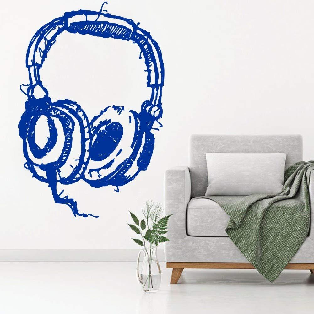 jiuyaomai DIY DJ Listening Headphone Art Tatuajes de Pared ...