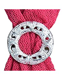 Fine Pewter Garland Scarf Ring, Handcast by William Sturt