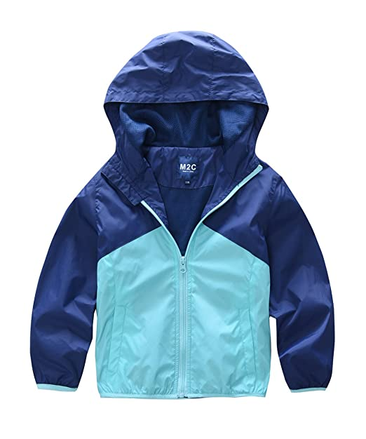 limited guantity quite nice elegant shape M2C Boys & Girls Hooded Light Weight Windbreaker Water Resistant Jacket