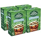 """Green Mountain Coffee Roasters, Alpine Roast Cold Brew Coffee Packs, Dark Roast Coffee, Coarse Ground, Makes 2-48oz. Pitchers of Real Cold Brew Coffee, Comes with 4 SteePack Coffee Filters (4 Pack)"""