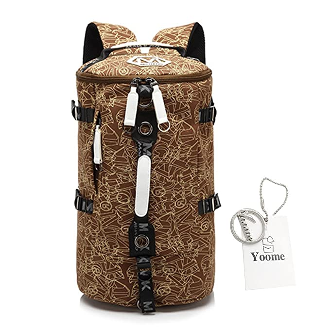 Amazon.com   YOOME Drum Printing 16 Inch Canvas Backpack Waterproof Rucksack  Laptop Dayback Shoulder Bag Handbags Travel College Hiking Camping ... cb7838c1e2c7a