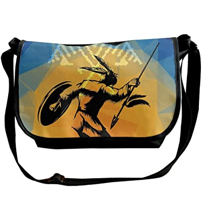 Lovebbag War Dance Ritual Against Ancient Totem Poly Effect Triangles Abstract Decorative Crossbody Messenger Bag