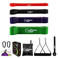 4evershape Pull Up Assist Bands, Resistance Bands Set with Handles and Door Anchor...