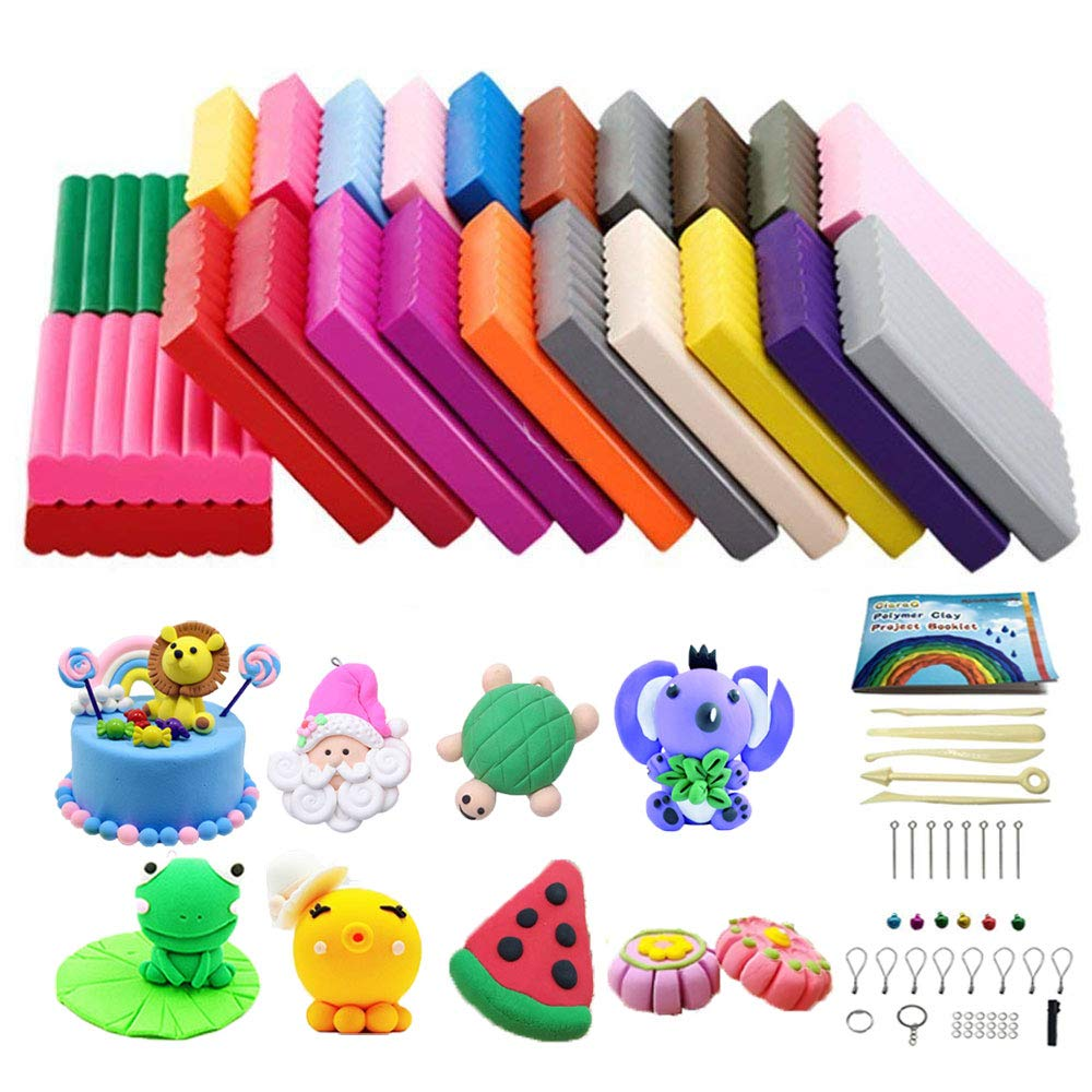 Air Dry Clay, 24 Colors Modelling Clay Ultra Light Polymer Clay Wonderful DIY Creative Educational Magic Clay Best Gift for Children CiaraQ
