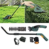 """GHP 13.8""""lx4.3""""x22.8''-35.4"""" 2-in-1 Electric Cordless 3.6v Yard Lawn Mower Grass Shear Hedge Trimmer"""