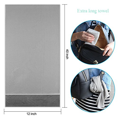"OUO Cooling Towel (3 pack) Sport Towel 40""x12"" Snap Cool Towel Multi purpose Super Soft Breathable Travel Towel Outdoor Towel Yoga Towel Gym Towel"