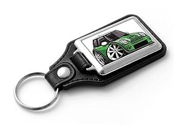 Classic Mini Racing Green Keyring