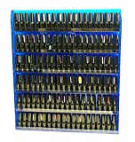 Beauticom Blue Colors Professional Acrylic Nail Polish Wall Rack Display (Holds up to 96 Bottles) (BLUE)