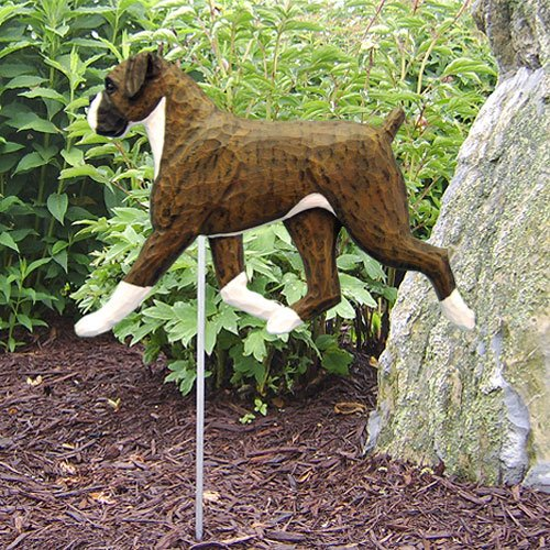 BRINDLE NATURAL Boxer Garden Stake by Michael Park (Brindle Natural)