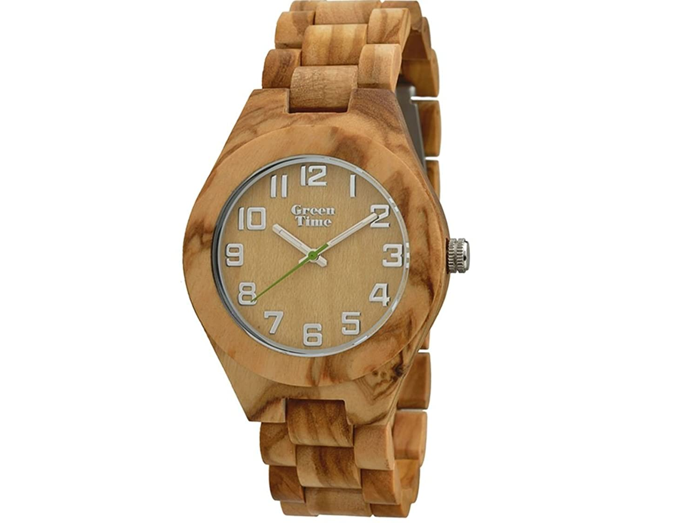 Green Time Uhr Herren aus Olivenholz zw058 a