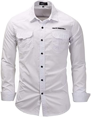 Star-bw Camisa Hombre Militar Manga Larga Slim fit Casual gant Juvenil: Amazon.es: Ropa y accesorios