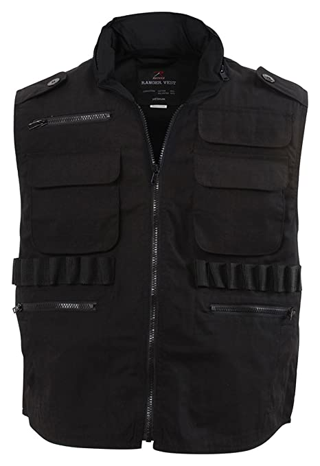 Amazon.com  Rothco Ultra Force Black Ranger Vest 2XL  Sports   Outdoors dcdb32904d1