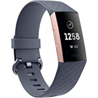 Fitbit Charge 3 Advanced Health and Fitness Tracker - Black/Graphite Aluminium