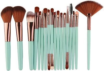 Ninasill 15 Colors Makeup Concealer Contour Palette + Water Sponge Puff + Makeup Brush (Green)