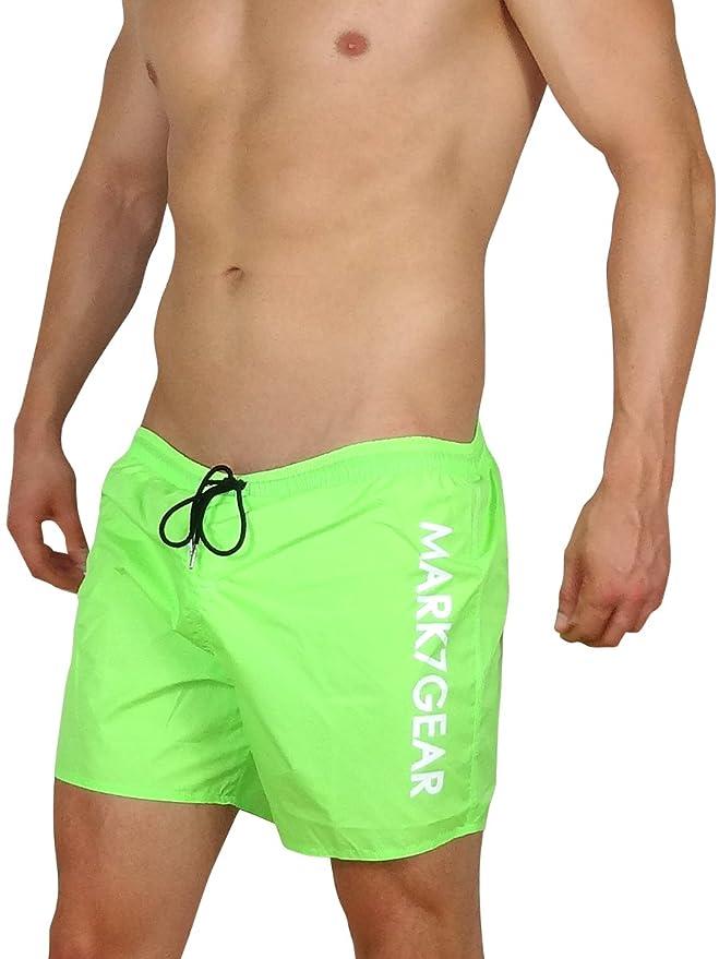 Weiss Mark7Gear Badehose Gym /& Swim Sportshorts mit Jockstrap