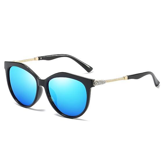 VeBrellen Womens Shades Polarized Sunglasses for Women UV Protection Eyewear Transparent Frame