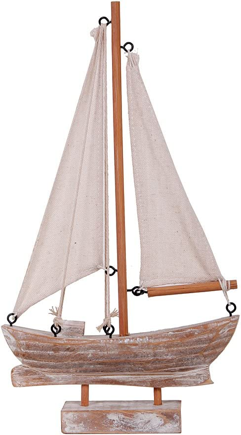 Waroom Home Wooden Sailboat Decor