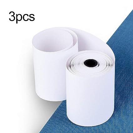 3 rollos / SET 57X30MM Papel adhesivo imprimible duradero ...