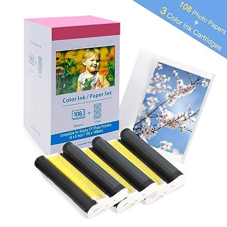 Compatible con Canon Selphy CP1300 CP1200 CP1000 CP910 Papel ...