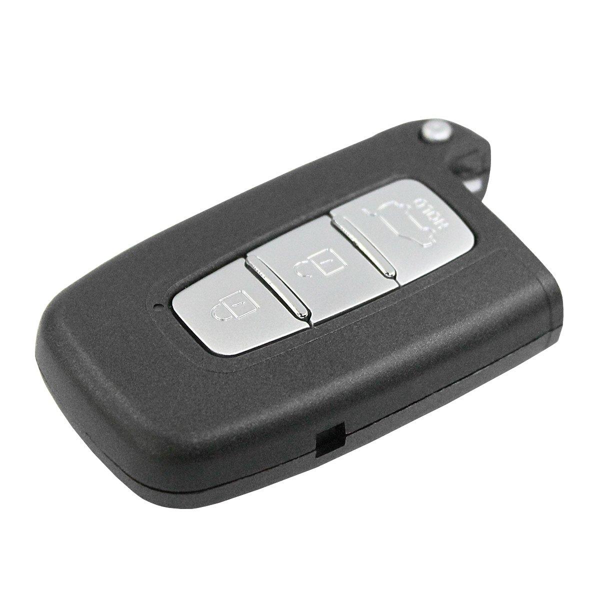 Carcasa Llave Carcasa Mando Negro 3 Botones Sin Hoja Hyundai ...